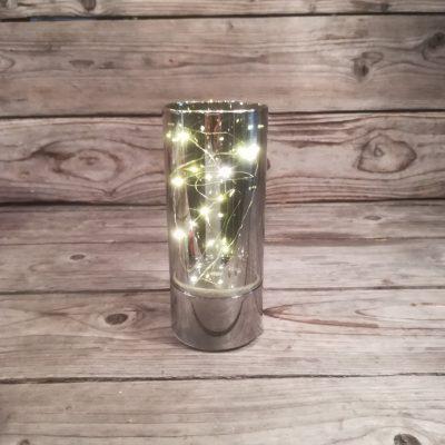 Svečturis ar LED lampiņām (SZ04) Lamp with LED string light Подсвечник с LED подсветкой