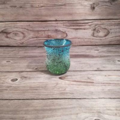 Zils svečturis (SZ15) Синий подсвечник Blue candlestick | Inventāra noma kāzām, pasākumiem | EventRent