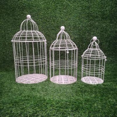 Balti putnu būri (PB04) Белые клетки для птиц White Bird Cages | Inventāra noma kāzām, pasākumiem | EventRent