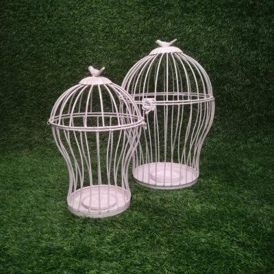 Balti putnu būri (PB05) Белые клетки для птиц White Bird Cages | Inventāra noma kāzām, pasākumiem | EventRent