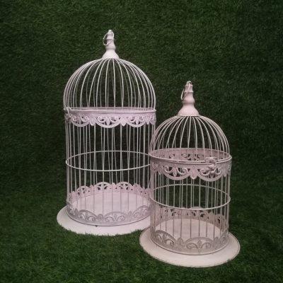 Balti putnu būri (PB03) Белые клетки для птиц White Bird Cages | Inventāra noma kāzām, pasākumiem | EventRent
