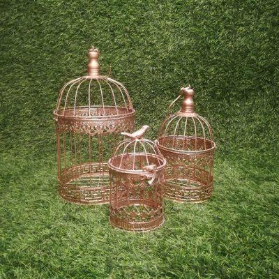 Bronzas putnu būri (PB07) Бронзовые клетки для птиц Bronze Bird Cages| Inventāra noma kāzām, pasākumiem | EventRent