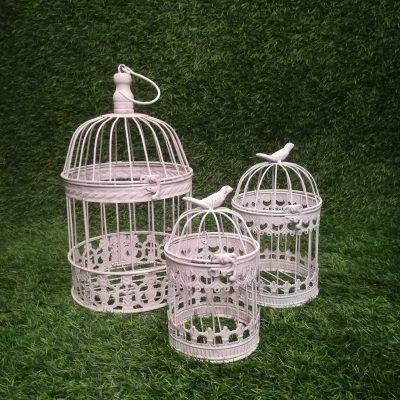Balti putnu būri (PB08) White Bird Cages Белые клетки для птиц | Inventāra noma kāzām, pasākumiem | EventRent