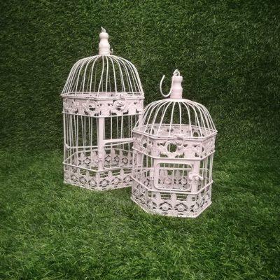Balti putnu būri (PB06) Белые клетки для птиц White Bird Cages | Inventāra noma kāzām, pasākumiem | EventRent
