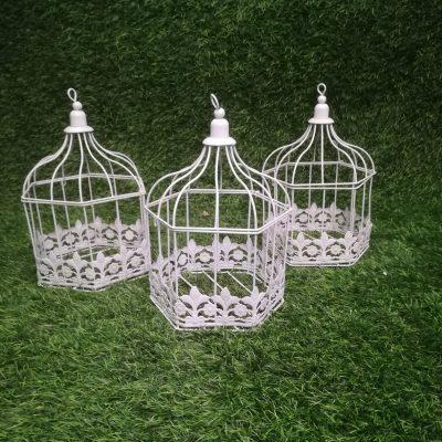 Balts putnu būris (PB01)| Белая клетка для птиц White Bird Cage Inventāra noma kāzām, pasākumiem | EventRent
