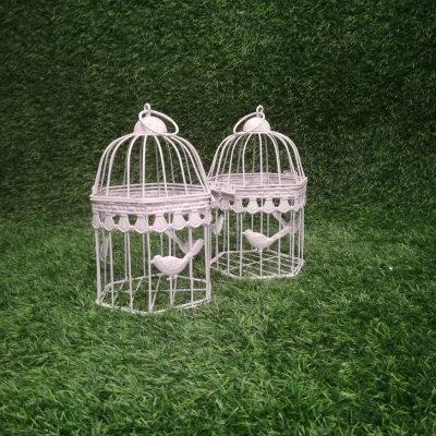 Balts putnu būris (PB02) Белая клетка для птиц White Bird Cage | Inventāra noma kāzām, pasākumiem | EventRent