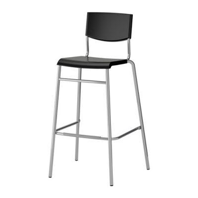 Melns bāra krēsls (KR09). krēslu noma. bāra krēslu īre Black bar stool for rent rental Черное барное кресло