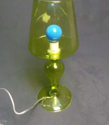 Dzeltena galda lampa (G08) Желтая настольная лампа Yellow table lamp