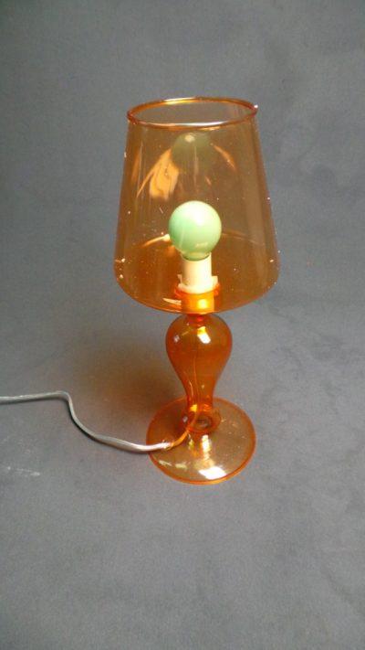 Oranža galda lampa (G07) Оранжевая настольная лампа Orange table lamp