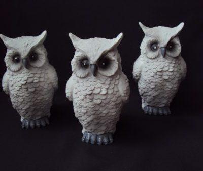 Dekoratīvas figūras - pūces (DZ13) Figurines - owls Фигурки - совы