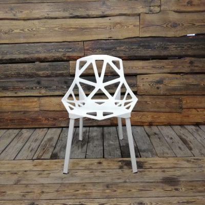 Balts dizaina krēsls (KR04)
