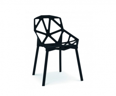 Melns dizaina krēsls (KR05). krēslu noma, krēsli, dizaina krēslu noma īre Black design chair for rent Черный дизайнерский стул