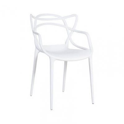 Balts dizaina krēsls (KR06) White design chair for rent Белый дизайнерский стул