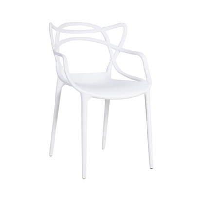 Balts dizaina krēsls (KR06) White design chair for rent Белый дизайнерский стул