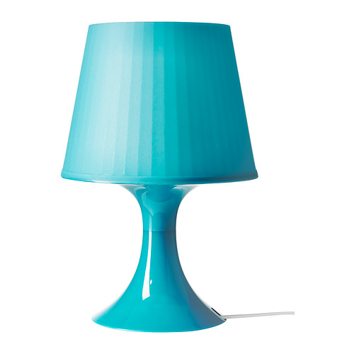 Galda lampa zilā krāsā (G11) Синяя настольная лампа Blue table lamp