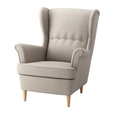 Atpūtas krēsls bēšā krāsā krēslu noma, atpūtas krēsli, mēbeļu noma Beige armchair for rent Бежевое кресло для отдыха