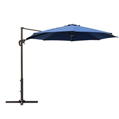 Saulessargs tumši zils Темно-синий уличный зонт Dark blue garden parasol saulessargu noma