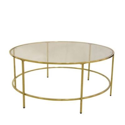Galds zelta krāsā D90 (GLD01) Golden coffee table D90 Золотой журнальный столик