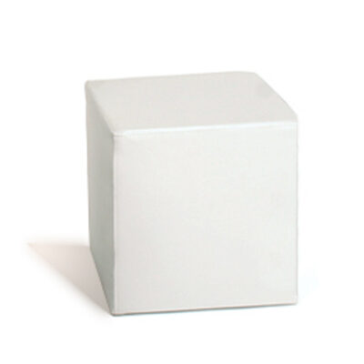 Balts pufs White cube pouf Пуф куб - белый