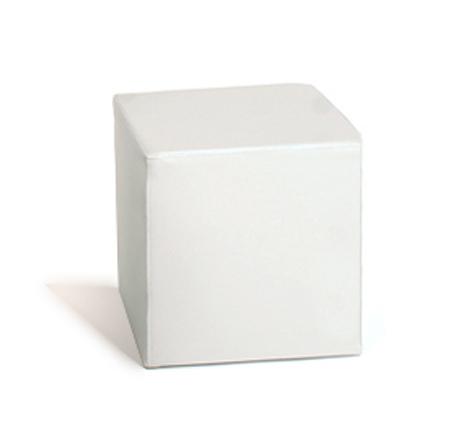 Balts pufs White cube pouf Пуф куб - белый