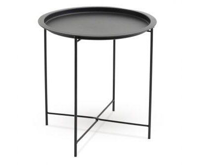 Melns kafijas galds (GLD07) Black coffee table (GLD07) Черный кофейный столик (GLD07)