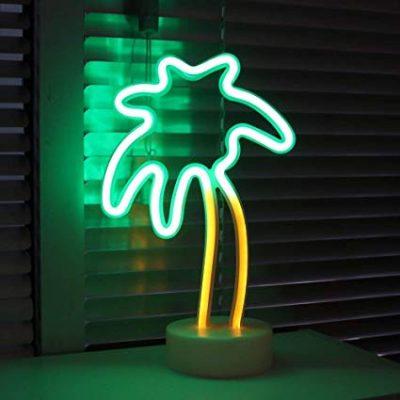 Neona lampa - palma. Неоновая лампа - пальма Neon lamp - palm tree Apgaismojuma noma. Lampas noma