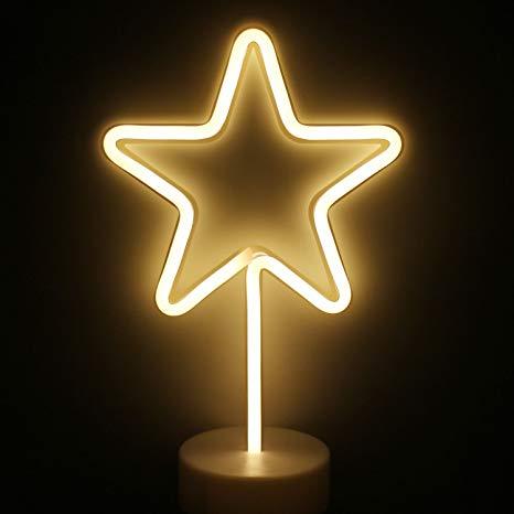 Neona lampa - zvaigzne Неоновая лампа - звезда Neon lamp - star lampu īre