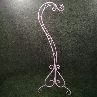 Balts metāla statīvs (STT8) Белый штатив для цветочных горшков White metal stand statīvu noma, statīvi
