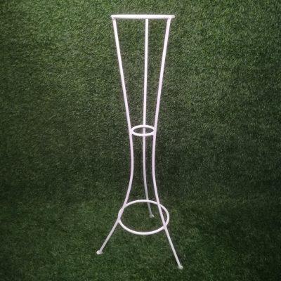 Balts metāla statīvs (STT5) Белый штатив для цветочных горшков White metal stand statīvu noma, statīvi