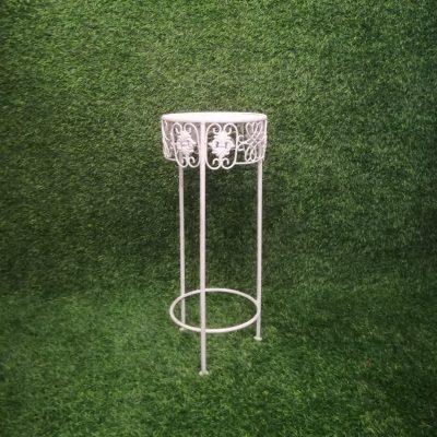 Balts metāla statīvs (STT3) Белый штатив для цветочных горшков White metal stand statīvu noma, statīvi