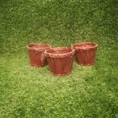 Brūns koka grozs (GRO18) grozu noma, grozi Коричневая деревянная корзина Brown wooden basket