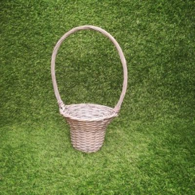 Pelēks pīts grozs (GRO3) grozu noma Серая плетеная корзина Gray wicker basket