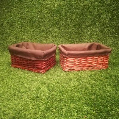 Brūni pīti grozi (GRO4) Grozu noma, grozs Коричневые плетеные корзины Brown wicker baskets
