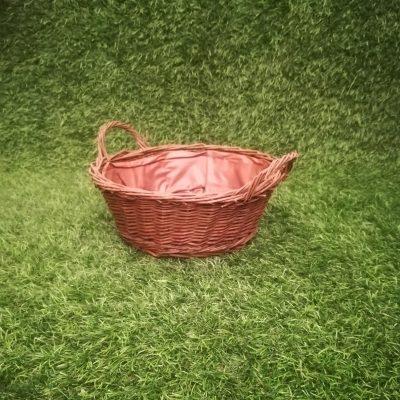Brūns pīts grozs (GRO25) grozu noma, grozi Коричневая плетеная корзина Brown wicker basket
