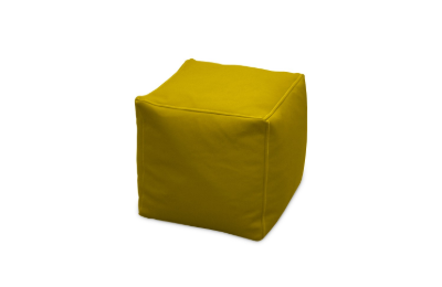"Balts pufs ""Kubs"" noma, pufu noma Yellow cube pouf for rent Пуф куб - желтый"