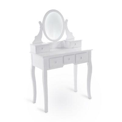 Balts kosmētikas galdiņš (GLD20). galdu noma. kosmētikas galda noma