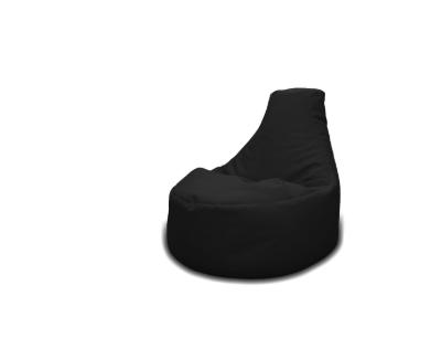 Melns atpūtas pufs Кресло мешок черный