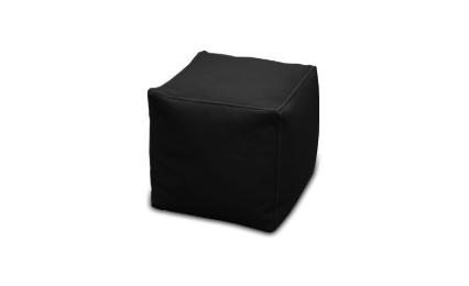 Melns pufs, pufu noma, pufi Black cube pouf Пуф куб - черный