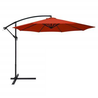 Saulessargs oranžs Оранжевый уличный зонт Orange garden parasol saulessargu noma