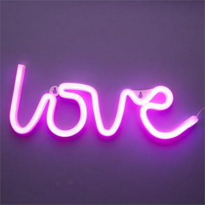 Neona sienas lampa - love Неоновая настенная лампа - любовь Neon wall lamp - Love noma