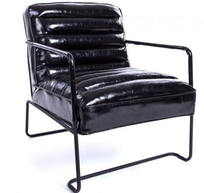 Melns atpūtas krēsls Black armchair Черное кресло для отдыха