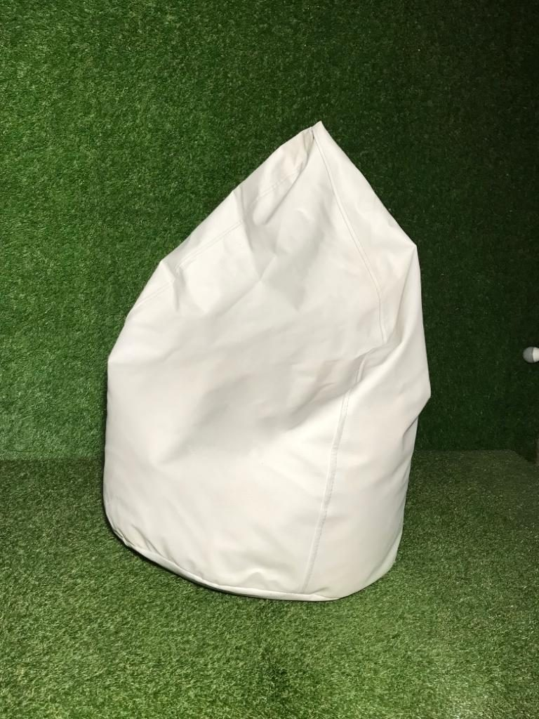 Balts sēžammaiss Bean bag - white for rent Пуф - белый