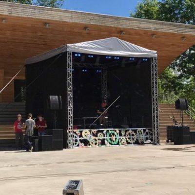 Eurotruss HD34 6x6x5 + сцена skatuves noma skatuves aprīkojums. skatuves konstrukcija