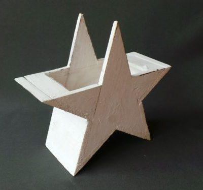 Dekoratīva balta koka zvaigzne