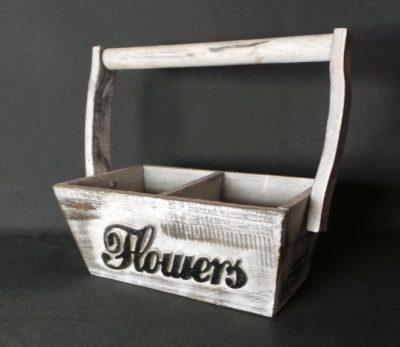 Dekoratīva koka puķu kaste Декоративный ящик для цветов Decorative flower box