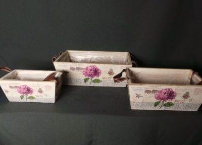 Koka puķu kastes Деревянные ящики для цветов Wooden flower boxes noma iznomā