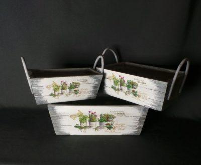 Dekoratīvas koka puķu kastes Декоративные ящики для цветов Decorative flower boxes noma īre