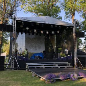 Eurotruss HD34 8x6x7 + stage + сцена skatuves noma