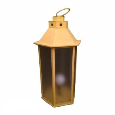 Dzeltena metāla laterna Желтый свечной фонарь yellow candle lantern laternu noma. svečturu īre