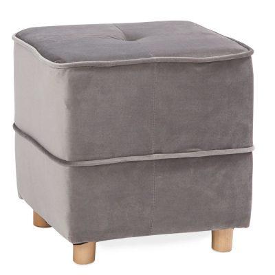 Pelēks auduma pufs (PF33) iznomā pufus. atpūtas krēslu noma. pufu īre Soft pouf cube - gray for rent Мягкий пуфик - серый